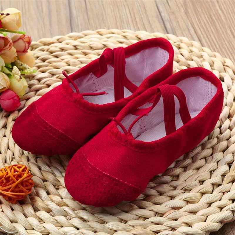 أحذية بناتي للأطفال 2019 من القماش أحذية رقص باليه بوانت أحذية للجمباز واللياقة البدنية للأطفال أحذية أطفال prewalker soulier bebe fille