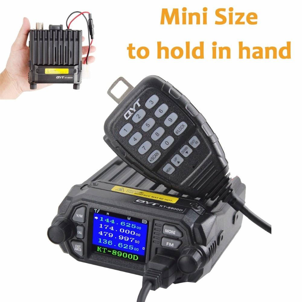 imágenes para Qyt kt-8900d 25 w montada sobre el vehículo radio de dos vías de actualización kt-8900 mini radio con banda cuádruple móvil lcd de gran tamaño