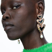 Best lady ZA 2018 Heart Drop Dangle Earrings For Women Metal Vintage Wedding Party Jewelry Christmas Gift Hot Sale Wholesaler