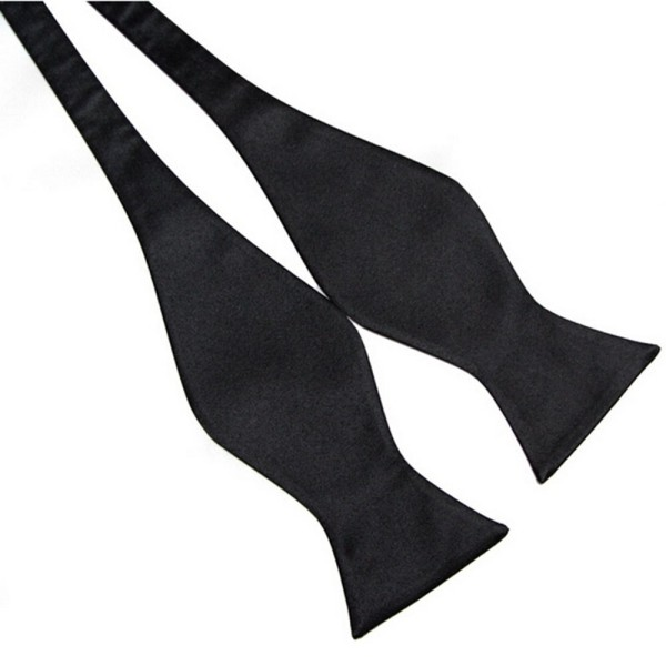 New Stylish Mens Bowties Solid Color Plain Silk Self Tie Bow Ties 8 Colors