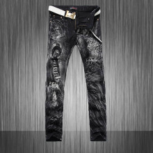 Hot New Autumn Summer 2015 Men Painted denims Men Camouflage Pants Slim trousers Free transport
