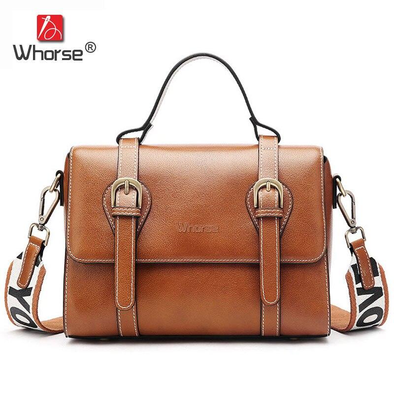 Famous Brand Vintage Women Postman Bag Genuine Leather Ladies Small Handbag Crossbody Shoulder Messenger Bags For Lady W09670