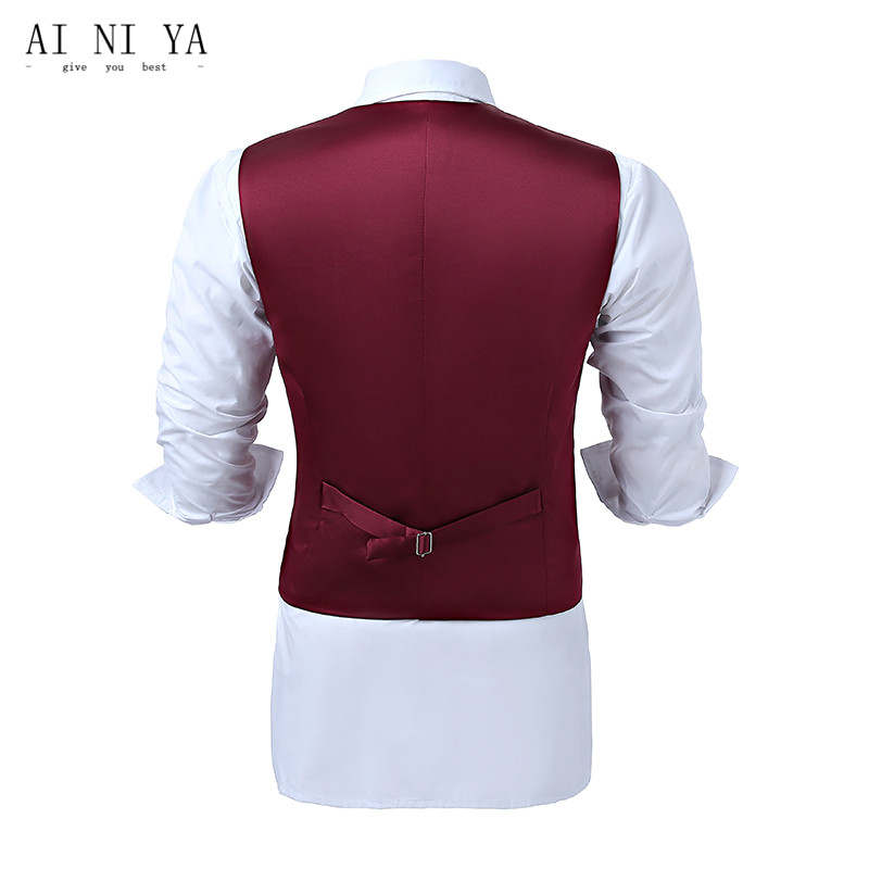 Men's Clothing Brown Mens Wedding Waistcoat Herringbone Vest Gilet Homme Classic Formal Mens Wool Vests Autumn Winter Vintage Waistcoat Office Suits & Blazers