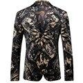 2016 Nuevo Vintage Hombres Blazers Moda Casual Diseñador de la Marca Blazers Florales Ternos T0107