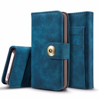 For Iphone 5s Case Leather Multifunction Detachable Retor Wallet Flip Phone Cases For Iphone 5 5S