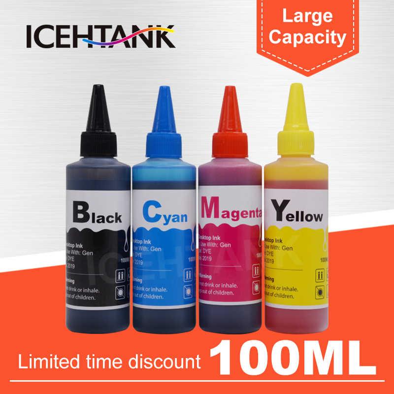 Kit De Recarga de Tinta Corante 100 ml Para Canon PG ICEHTANK 40 CL 41 PG40 CL41 PG-40 CL-41 XL Pixma iP1600 IP1700 IP1800 MP140 MP450 Impressora