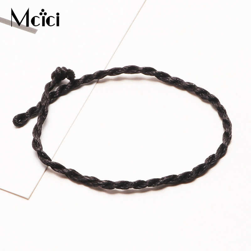 DIY Simple Charm Bracelet for Women Men Children Two Colors Cotton Lucky String Friendship Wish Bracelet Jewelry Gift Adjustable