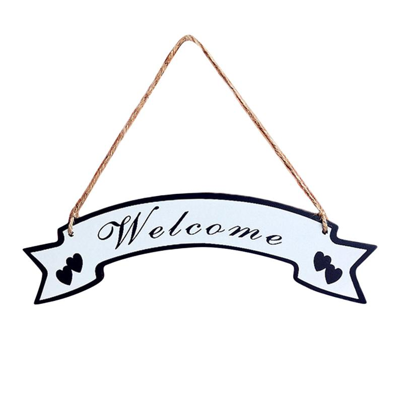 Welcome House Listing Retro Decoration Wooden Business Store Family Wall Decoration Rustic Style Hanging Wooden Farmhouse Porch