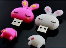 Pink Rabbit USB Flash Drive 64gb USB 3.0 Pen Drive 32gb 16gb 8gb Card 1TB 2TB