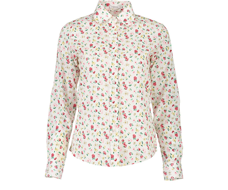 088ef16efbd ( o ) Plus Sizes Vintage Blouses Shirt Women 2018 New Fall Cotton Floral  Print Elegant Hot Sale Casual White Lovely Office Ladies Tops-in Blouses    Shirts ...
