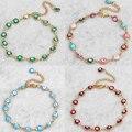Evil Eye Bracelet Vintage Stainless Steel Gold Plated Hamsa Hand turkish Bracelets for Women Adjustable wedding gift