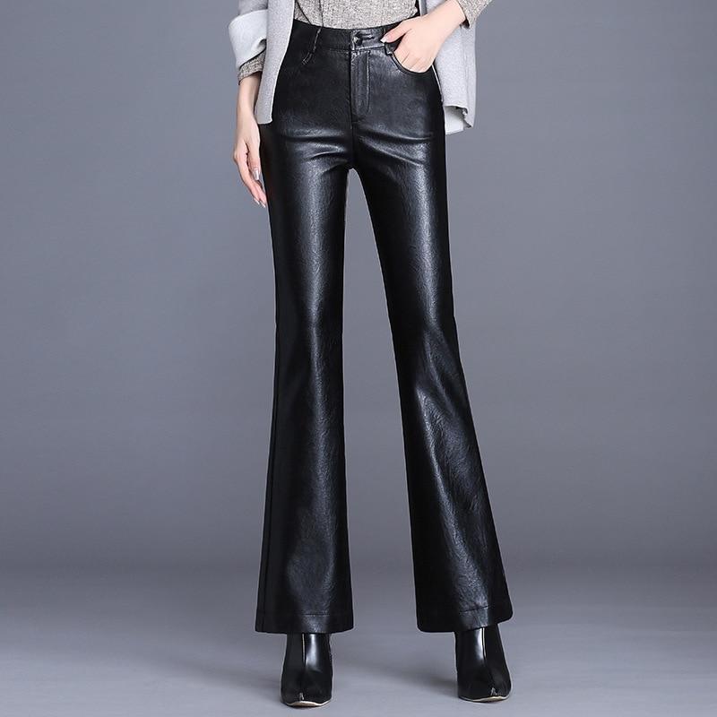 Accurato Inverno Pantaloni Di Modo Coreano Velluto A Coste Pantaloni Della Tuta Delle Donne Streetwear Plus Size Pantaloni Pu Pantaloni Di Pelle Allentati Pantaloni Di Grandi Dimensioni