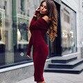 2016 Autumn Tube Dress Off Shoulder Strapless Sexy Elegant Bodycon Striped Dresses Vestidos Wine Red Black Party Dress P30