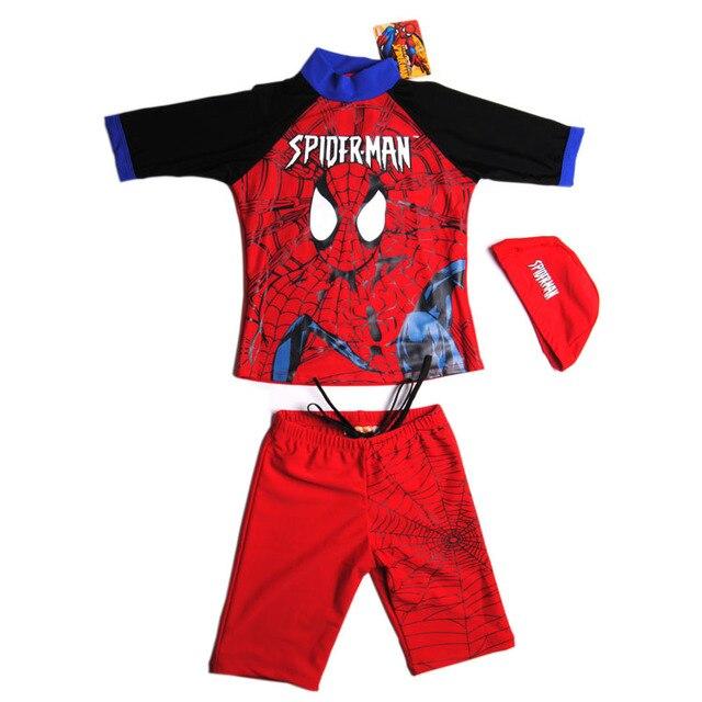 677307dcb5 Child Bathing Suit Cool Spider-man Boy Children Swimwear Boy Two Pieces  Swimsuit Kids Surfing Clothing Rash Guards Swim Trunks