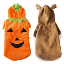 New Canine Costume Garments For Halloween Pet Humorous Clothes Pumpkin Fleece Canine Jumpsuit Coats Excessive High quality