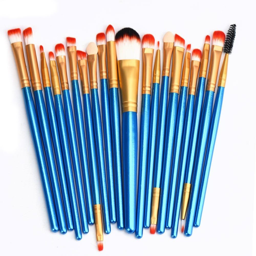 High Quality 20 pcs Makeup Brush Set tools Eyeshadow Concealer Make-up Toiletry Kit Wool Synthetic Hair Make Up Brush Set