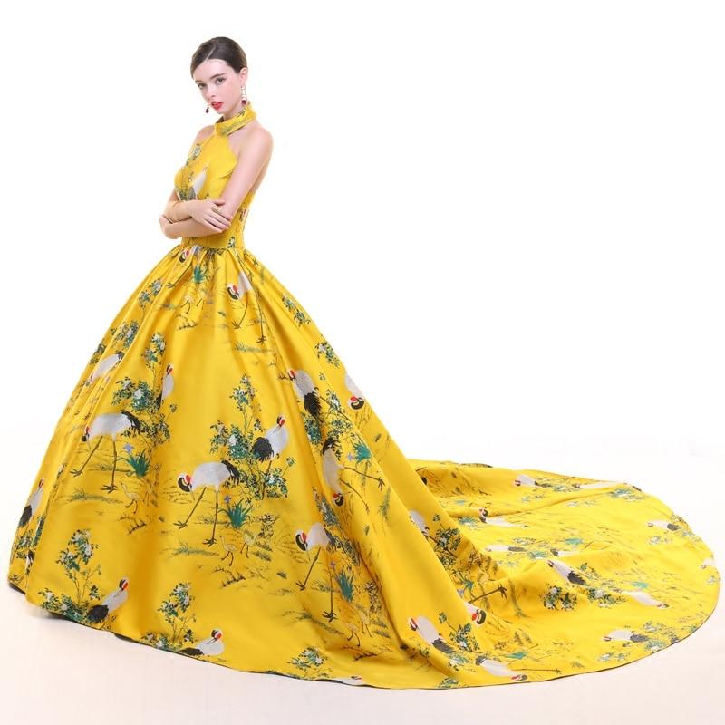 CEEWHY dos ouvert turquie robe de soirée musulmane arabie saoudite imprimer Floral robe formelle longues robes de soirée Vestido de Festa Longo - 3