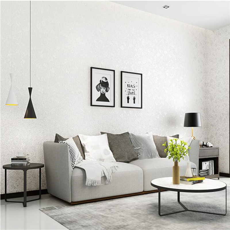 Beibehang 3D Linen Plain Wallpaper Trimmed Diatom Simple Living Room Bedroom Non-woven Solid Color Background wall 3d Wallpaper