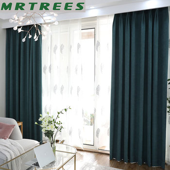 MRTREES плотные шторы для гостиной спальни Современные Плотные Шторы для окон шторы затенение 80%
