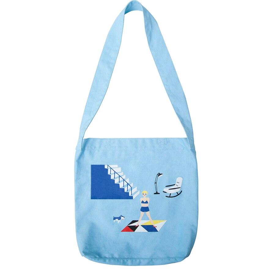 KOMESHOP printed handbag & shoulder & crossbody bag in what ghost series (FUN KIK)