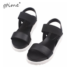 Gtime Women Sandals Female Summer Casual Flat Shoes Peep-toe Roman Sandals mujer sandalias Lady Flip Flops Sandal Footwear ZWB44