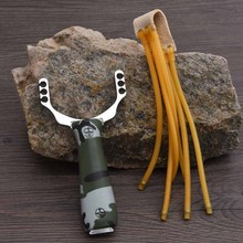 VILEAD 2 Colors Powerful Aluminium Alloy Slingshot Sling Shot Catapult Camouflage Bow Catapult Outdoor Hunting Camping Tools
