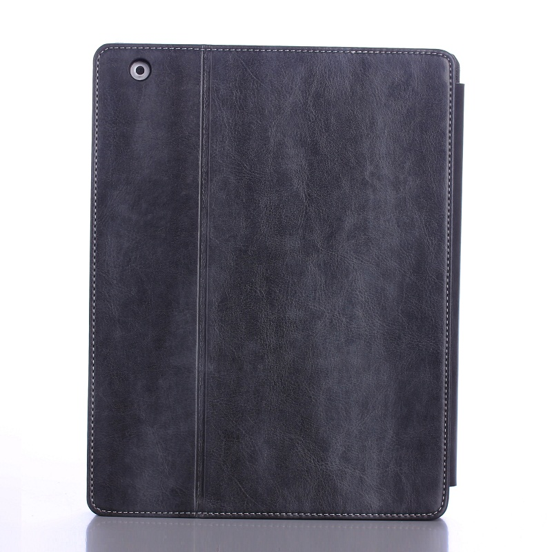 Solque PU Leather Flip Smart Cover for iPad 4 Tablet Case 9.7 inch Retro Vintage Ultra Slim Hard Shell Funda Luxury Book Style