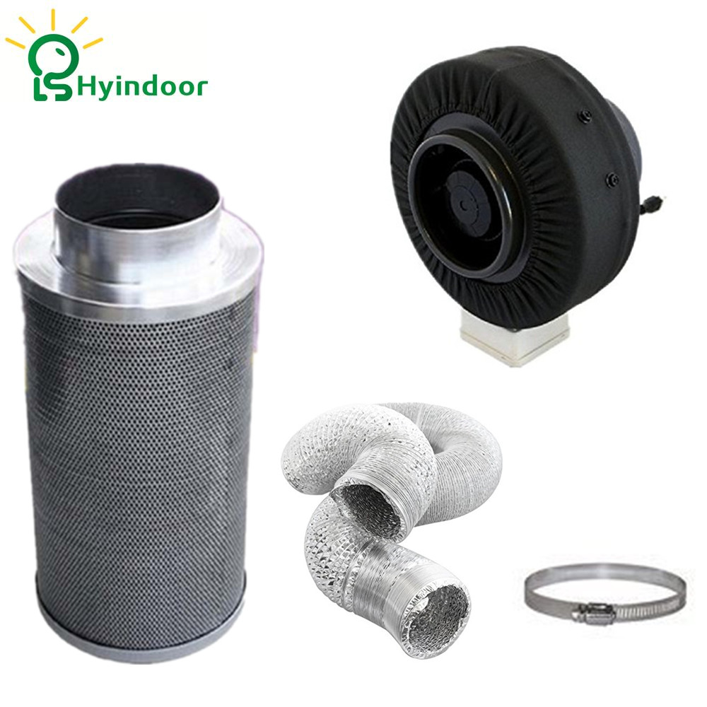 Hydroponic 6 Inch Fan Filter Duct Fan Blower Ventilation Kit Hydroponic 6 Inch Fan Filter Duct Fan Blower Ventilation Kit