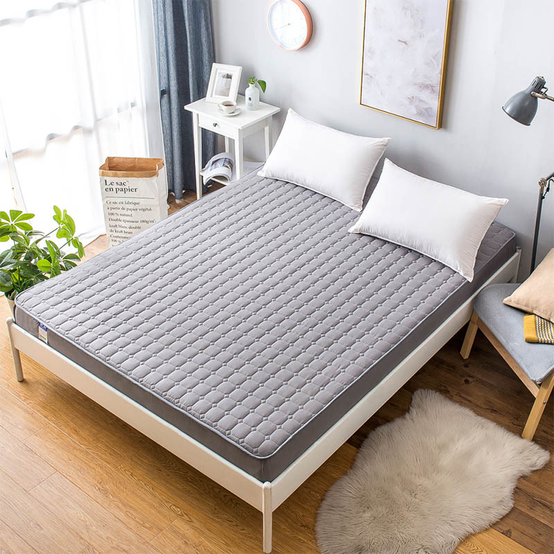 Multi-Size Quilting Bed Pad Fitted Sheets Sanding Polyester Fabric Mattress Protection Cover non-slip Bedspread CD-03