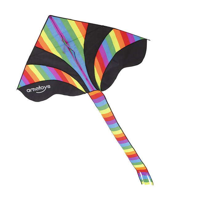 Huge Rainbow Kite with 50m Line Delta Kite Easy to Assemble Great Beginner Kite for Kids Outdoor Games Activities Ametoys toys