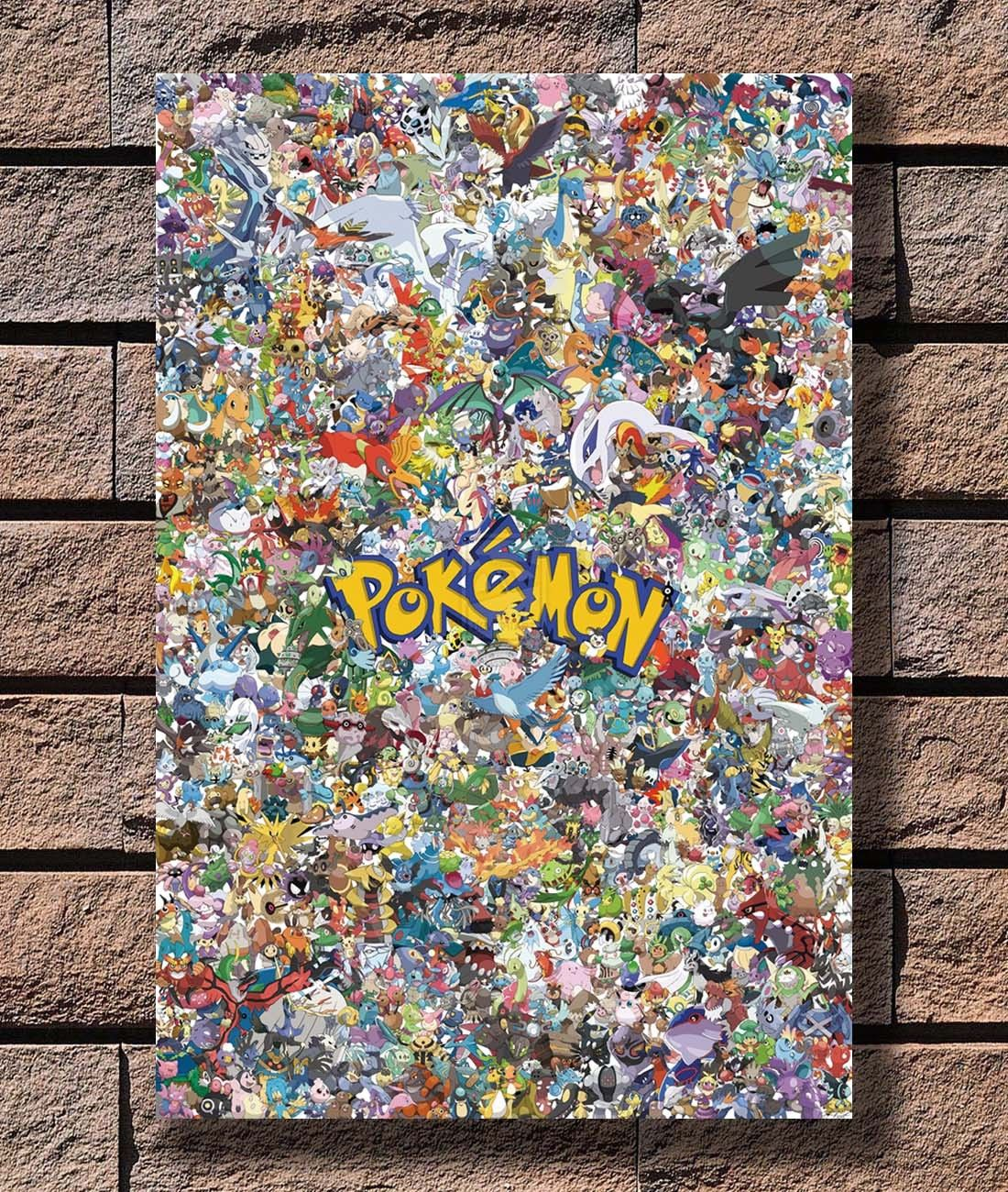 Q0075 Posters and Prints Pokemon GO All Monster Lovely Classical Hot Japanese Anime Hot Art Poster Canvas Painting Home Decor 1