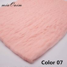 miaoaim 2pcs/lot Fluffy Wool Felt Fleece Blanket Filler