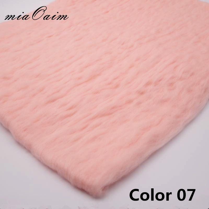 2pcs/lot Fluffy Wool Felt Fleece Blanket Filler Stuffer Layer Backdrop Newborn Photography Props Baby Shower Gift For Maternity