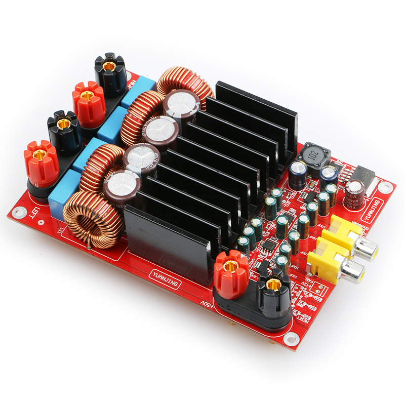 YJHIFI TAS5630 OPA1632DR AUDIO high power digital amplifier board Class D 2 * 300W DC50V  HIFI DIY (Deluxe Edition) assembled tas5630 2 1 digital amplifier board 300w 150w 150w