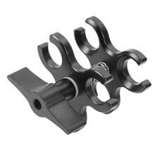 Upgraded CNC 3 Hole Butterfly Clip Diving Lights Arm Connected Accessories Adapter Bracket Holder for Action Camera