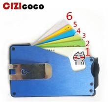 все цены на 2019 New Carbon Fiber Metal Credit Card Holder Rfid Wallet Blocking Portable ID Card Case Men Aluminum Clip Pocket Porte Carte