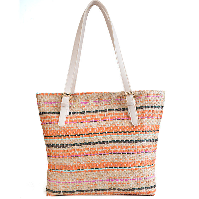 Beach Bag For Summer Big Straw Bags Handmade Woven Tote Women Bohemian Style Travel Handbags Luxury Designer Shopping Hand Bags