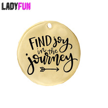 Inspirational Motivational Gift Journey Present Find Joy in the Journey Stainless Steel Charm 20pcs Wholesale