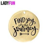 สร้างแรงบันดาลใจของขวัญการเดินทางปัจจุบันค้นหา Joy in the Journey สแตนเลส Charm 20 pcs ขายส่ง
