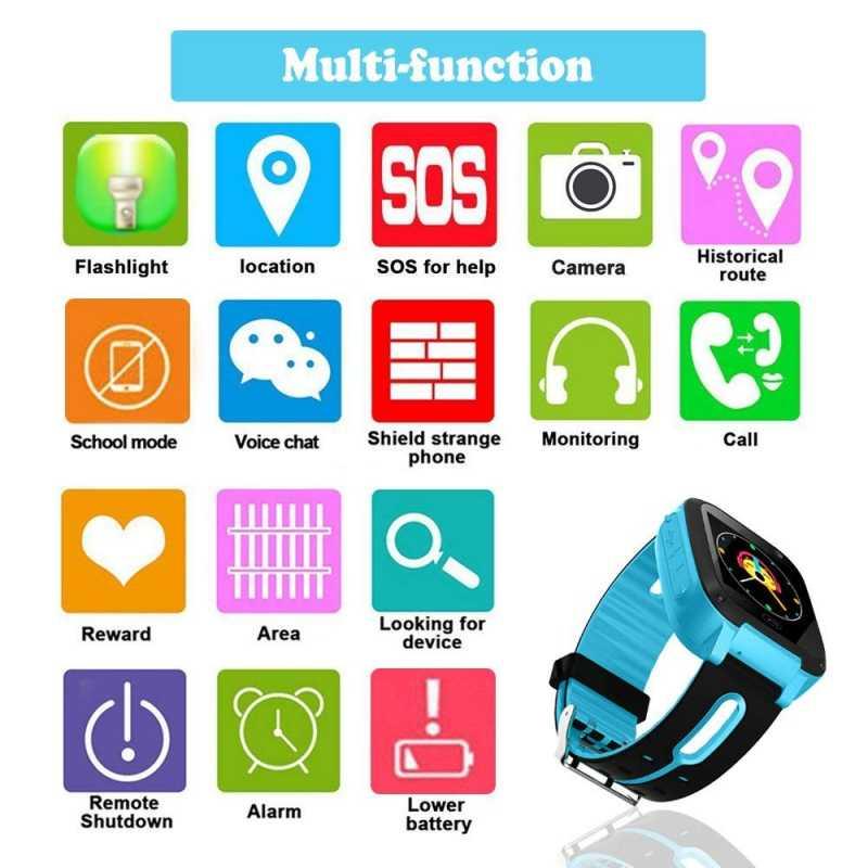 Anak Smart Watch GPS Tracker Mikro SIM Kartu Panggilan Anak Kamera Anti-Lost Posisi Alarm Smart untuk Bayi anak Laki-laki dan Perempuan Hadiah