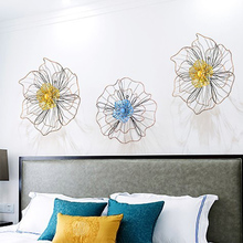 Europe art Iron Artificial Flower Wall Decoration Crafts living room Restaurant decor Wedding Background Home