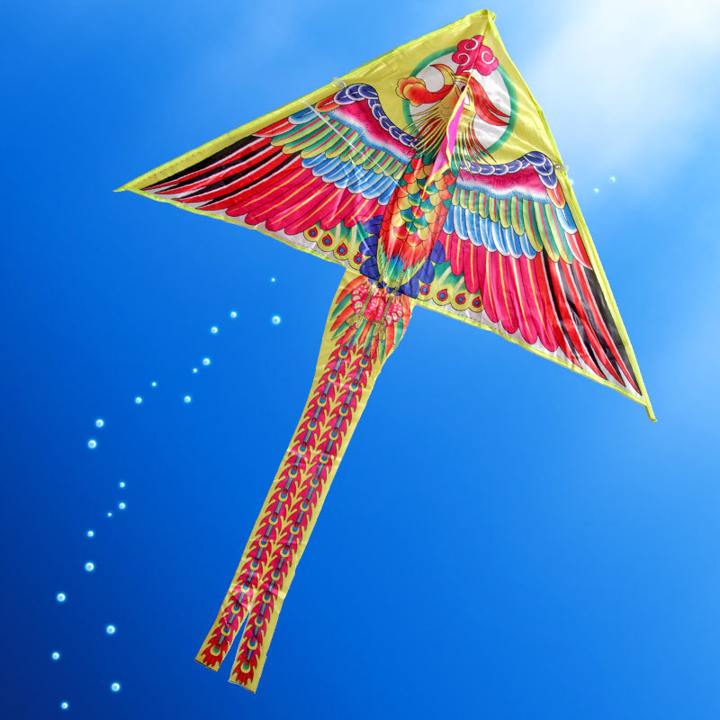 Outdoor Fun & Sports Painting Phoenix Kite Accessories without Handle Line Papalote Classic Toy Fly a Kite Flying Outdoor Toys