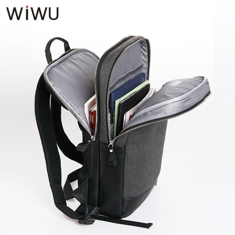 WIWU Genuine Leather Backpack for MacBook 15.6 Inch Fashion Design Notebook Bag for MacBook Pro 15 Anti-Dust Laptop Bag Hotsale ...