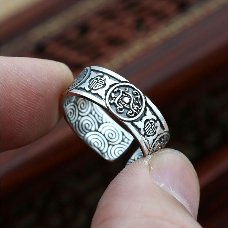 Aliexpresscom Buy 2017 Opening Chinese style four animal ring