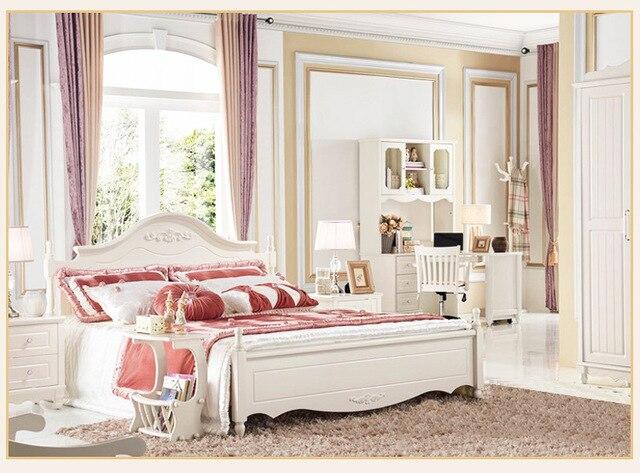Nueva lujo moderno dormitorio marco de madera maciza muebles de sala ...