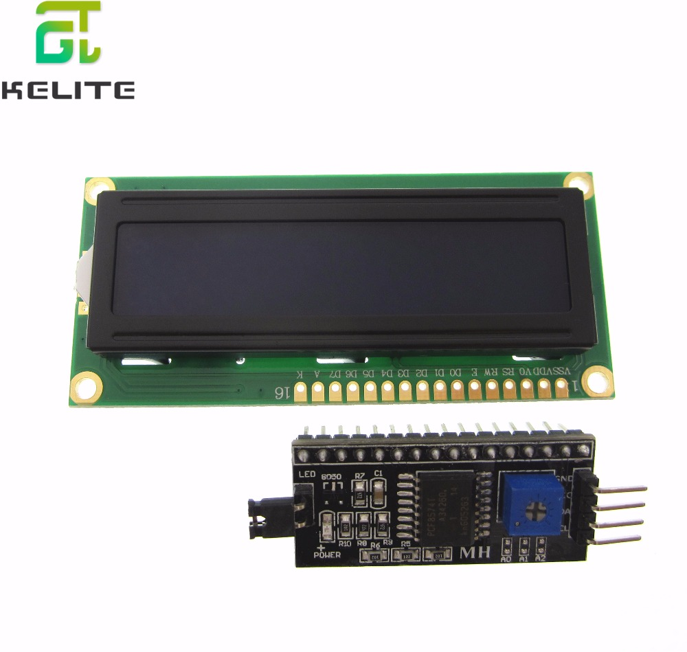 1 set IIC/I2C + LCD 1602 Blue Backlight LCD Display Adapter Plate ...