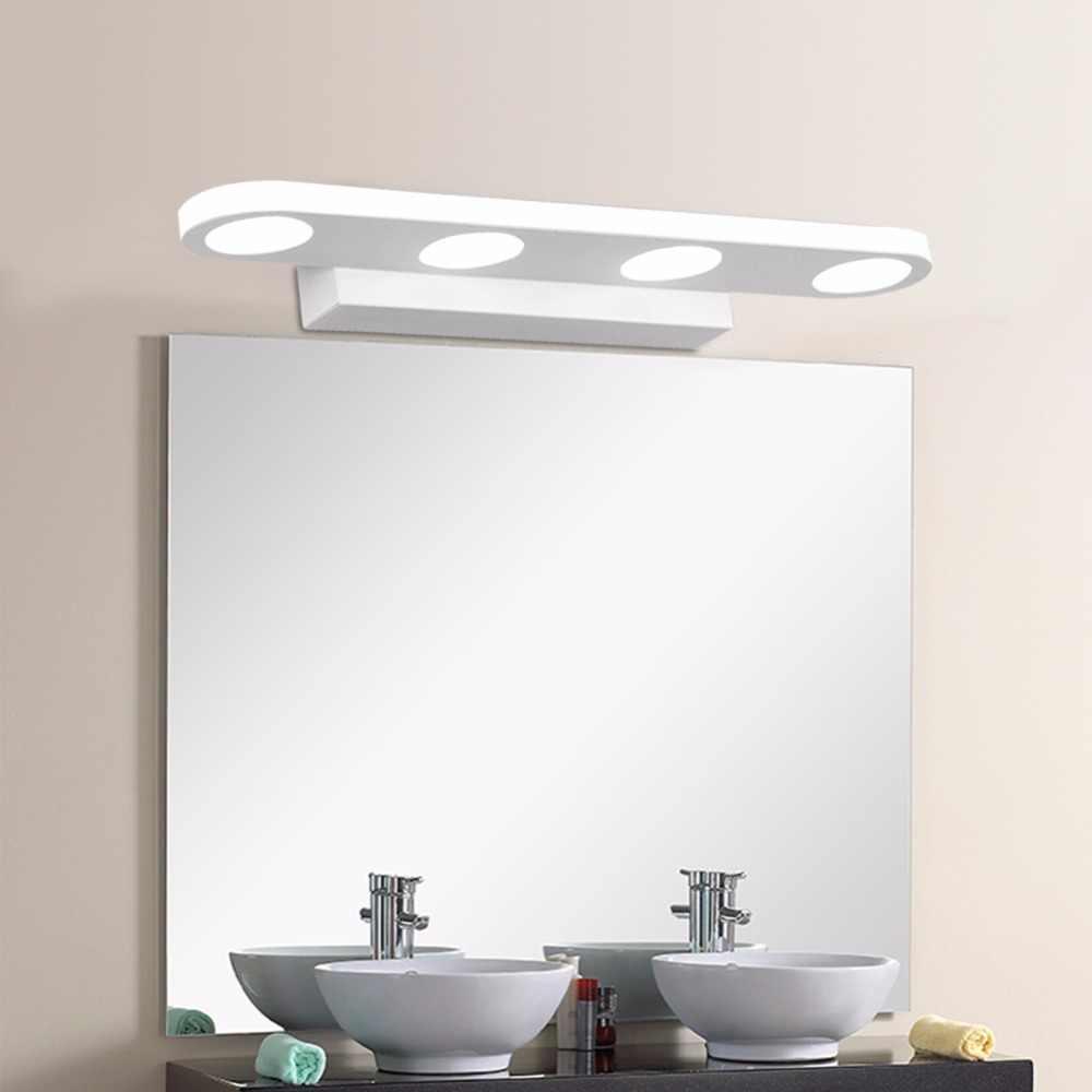Светодиодный зеркальный зеркало для ванной с освещением водонепроницаемое освещение в помещении 12 Вт 18 Вт светильник Скандинавское туалетное освещение минималистичный 110 В 220 В бра