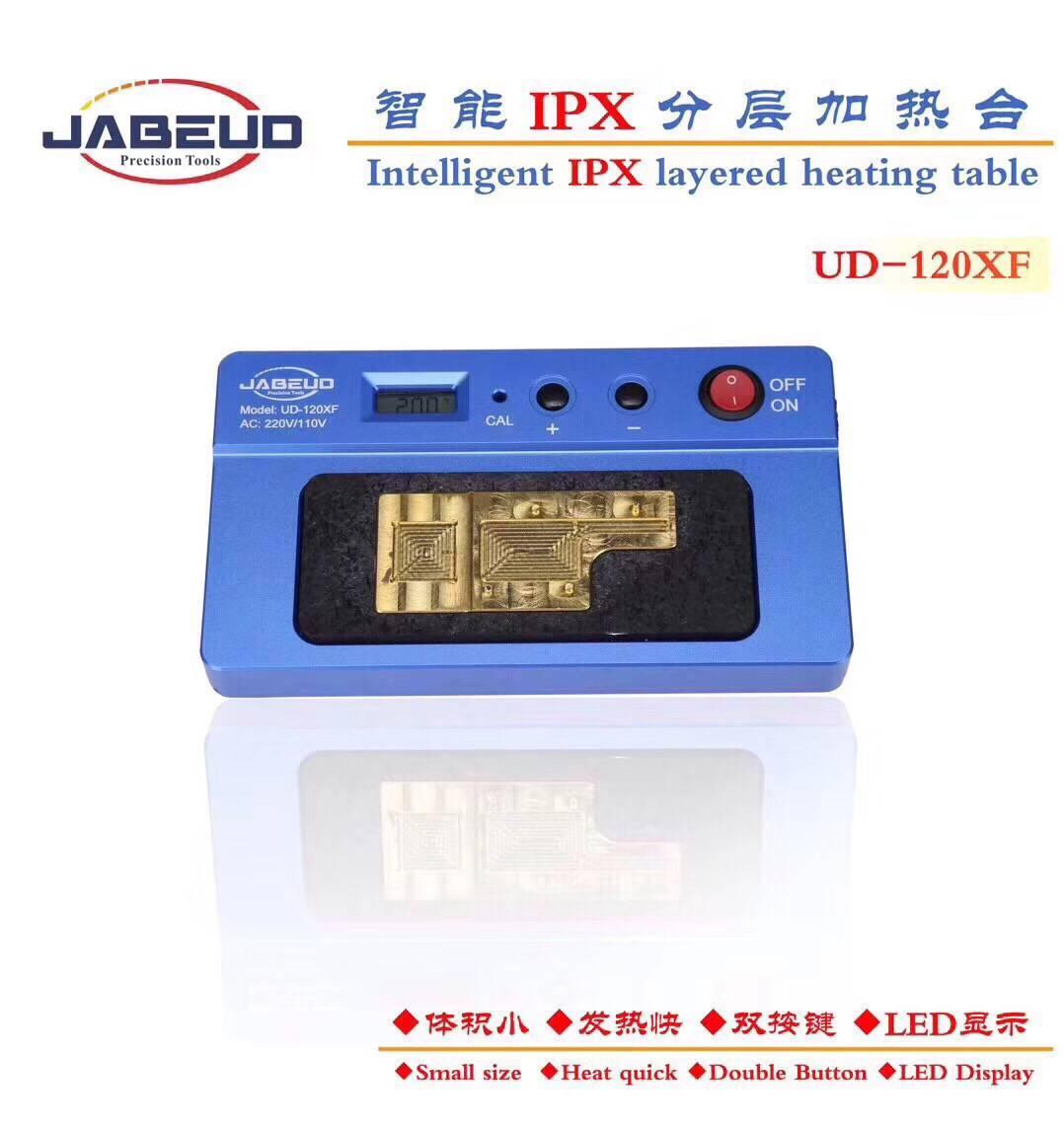 Plate-forme intelligente de reprise de soudure de table de chauffage en couches de UD-120XF pour le retrait d'ic d'uc d'iphone onex NAND CPU A8 A9 démontent des outils