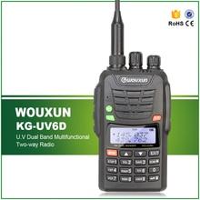 Wouxun KG-UV-6D V/U 136-174/400-480MHz Dual-Band Walkie Talkie Ham Two-way Radio