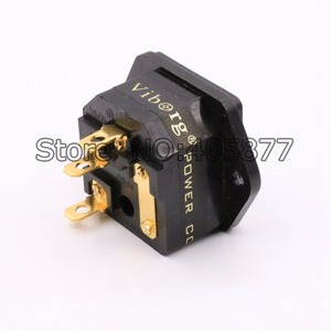 Image 5 - FI 03G 24K Gold Plated IEC AC Inlet IEC input socket with Solder